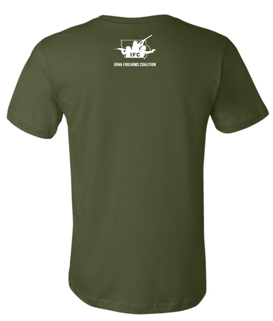 IFC Olive T-Shirt - YOUR RAYGUN IS PROTECTED