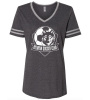 Jerzees - Women's Varsity Triblend V-Neck T